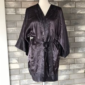 Victoria's Secret dark gray satin robe size OS